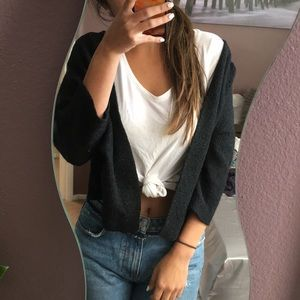 Brandy black cardigan